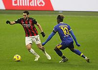 Milano  13-12-2020<br /> Stadio Giuseppe Meazza<br /> Campionato Serie A Tim 2020/21<br /> Milan - parma<br /> nella foto:  Hakan Calhanoglu                                                        <br /> Antonio Saia Kines Milano