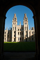 """All Souls College, with its cream-coloured neo-gothic Hawksmoor Towers, is often thought to be academia's original """"ivory tower""""."""