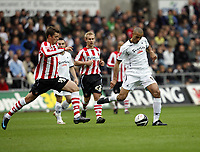 Pictured: Darren Pratley of Swansea City in action <br /> Re: Coca Cola Championship, Swansea City Football Club v Southampton at the Liberty Stadium, Swansea, south Wales 25 October 2008.<br /> Picture by Dimitrios Legakis Photography, Swansea, 07815441513