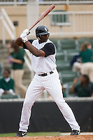 Kannapolis first baseman Chris Carter at bat versus Charleston at Fieldcrest Cannon Stadium in Kannapolis, NC, Wednesday, April 18, 2007.  The River Dogs defeated the Intimidators by the score of 1-0.