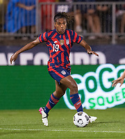 EAST HARTFORD, CT - JULY 1: Catarina Macario #19 of the USWNT dribbles during a game between Mexico and USWNT at Rentschler Field on July 1, 2021 in East Hartford, Connecticut.