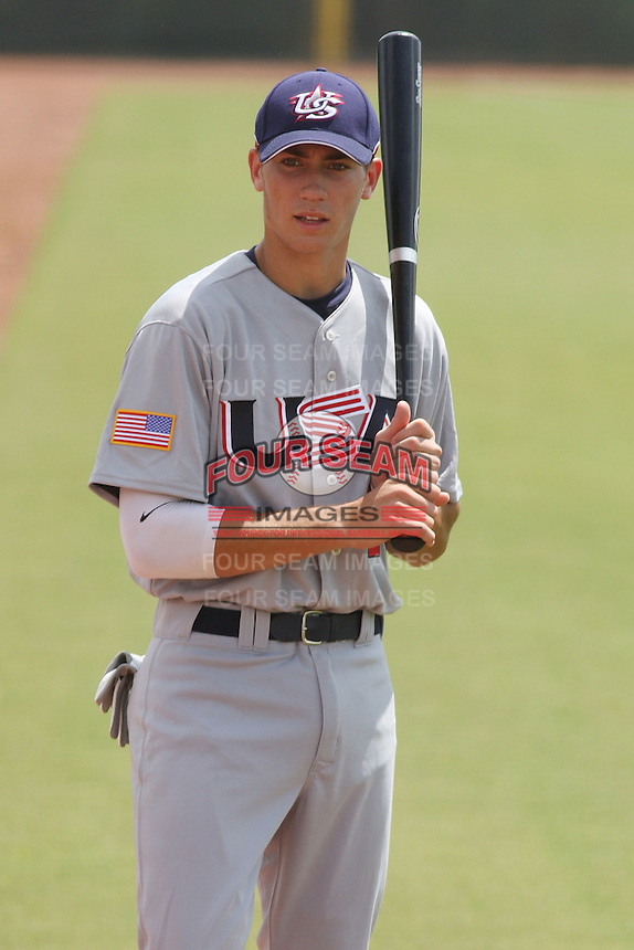 Nick Delmonico of Farragut High School in Knoxville, Tennessee at the Tournament of Stars event run by USA Baseball at the USA Baseball National Training Complex in Cary, NC on June 23, 2009.  Photo by Robert Gurganus/Four Seam Images