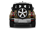 Straight rear view of 2021 Land Rover Defender First-Edition 5 Door SUV Rear View  stock images