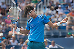 Hyeon Chung (KOR) loses to Stanislas Wawrinka (SUI) 7-6, 7-6, 7-6 at the US Open in Flushing, NY on September 3, 2015.