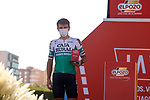Jonathan Lastra (ESP) Caja Rural-Seguros RGA most aggressive rider from yesterday's stage at sign on before the start of Stage 12 of La Vuelta d'Espana 2021, running 175km from Jaén to Córdoba, Spain. 26th August 2021.     <br /> Picture: Luis Angel Gomez/Photogomezsport   Cyclefile<br /> <br /> All photos usage must carry mandatory copyright credit (© Cyclefile   Luis Angel Gomez/Photogomezsport)