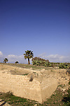 Israel, Sharon region, the dry moat at Apollonia National Park