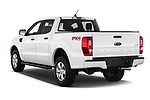 Car pictures of rear three quarter view of a 2019 Ford Ranger XLT 4 Door Pick Up angular rear