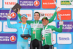 Pello Bilbao (ESP) Caja Rural-Seguros RGA wins Stage 6 of the 2015 Presidential Tour of Turkey running 184km from Denizli to Selcuk, with Miguel Ángel López (COL) Astana Pro Team in 2nd place and Heiner Parra (COL) Caja Rural-Seguros RGA in 3rd. 30th April 2015.<br /> Photo: Tour of Turkey/Mario Stiehl/www.newsfile.ie