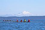 Port Townsend, Bogaciel, Frank C, Riverside, Rat Island Regatta, rowers, racing, Sound Rowers, Rat Island Rowing Club, Quads, Puget Sound, Olympic Peninsula, Washington State, water sports, rowing, kayaking, competition,