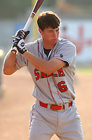 20 July 2005: Ben Zobrist (6) of the Salem Avalanche, Class A Carolina League affiliate of the Houston Astros, in a game against the Potomac Nationals, taken at Pfitzner Stadium, Woodbridge, Va. (Tom Priddy/Four Seam Images)