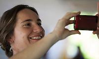 Pesquisadora Ana Euler  durante o IV Encontrão  para dar continuidade a implantação do protocolo comunitário no Arquipélago do Bailique  na foz do rio Amazonas, Amapá, Brasil.Foto Paulo Santos 12/06/2015