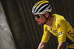 Race leader Yellow Jersey Mathieu Van Der Poel (NED) Alpecin-Fenix during Stage 7 of the 2021 Tour de France, running 249.1km from Vierzon to Le Creusot, France. 2nd July 2021.  <br /> Picture: A.S.O./Pauline Ballet | Cyclefile<br /> <br /> All photos usage must carry mandatory copyright credit (© Cyclefile | A.S.O./Pauline Ballet)