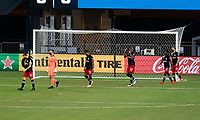 WASHINGTON, DC - SEPTEMBER 12: D.C. United players enter the field during a game between New York Red Bulls and D.C. United at Audi Field on September 12, 2020 in Washington, DC.