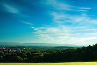 Looking across Glasgow to the Campsie Fells from Dams to Darnley Country Park, Barrhead, East Renfrewshire