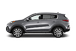 Car Driver side profile view of a 2017 KIA Sportage 2.4-EX-AT-AWD 5 Door SUV Side View