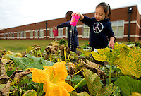 The Catawba River District has worked with a team of experts to create a transformational gardening and farming project involving six public schools including the  Whitewater Academy in Charlotte North Carolina.<br /> <br /> Students at the Whitewater Academy  in Charlotte, North Carolina take part in the STEM Gardening program.<br /> <br /> Charlotte Photographer - PatrickSchneiderPhoto.com