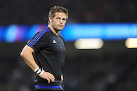 Richie McCaw of New Zealand warms up before Match 23 of the Rugby World Cup 2015 between New Zealand and Georgia - 02/10/2015 - Millennium Stadium, Cardiff<br /> Mandatory Credit: Rob Munro/Stewart Communications