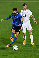 Roberto Soriano of Italy and Frank Liivak of Estonia during the friendly football match between Italy and Estonia at Artemio Franchi Stadium in Firenze (Italy), November, 11th 2020. Photo Andrea Staccioli/ Insidefoto