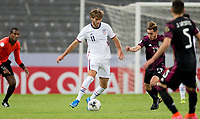 GUADALAJARA, MEXICO - MARCH 24: Tanner Tessmann #11 of the United States passes off the ball during a game between Mexico and USMNT U-23 at Estadio Jalisco on March 24, 2021 in Guadalajara, Mexico.