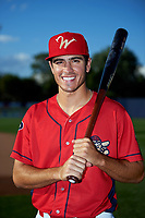 Williamsport Crosscutters designated hitter Adam Haseley (37) poses for a photo before a game against the Mahoning Valley Scrappers on July 8, 2017 at BB&T Ballpark at Historic Bowman Field in Williamsport, Pennsylvania.  Williamsport defeated Mahoning Valley 6-1.  (Mike Janes/Four Seam Images)