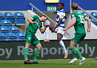 Olamide Shodipo of Queens Park Rangers and Sam Winnall of Sheffield Wednesday go for the ball during Queens Park Rangers vs Sheffield Wednesday, Sky Bet EFL Championship Football at Loftus Road Stadium on 11th July 2020