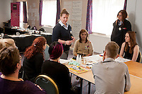 Staff experienced an unsual induction training day for the soon to be opened Derby Hobbycraft store. Pictured is people manager Nicola Price