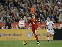 San Diego, Ca - Sunday, January 21, 2018: Carli Lloyd during a USWNT 5-1 victory over Denmark at SDCCU Stadium.