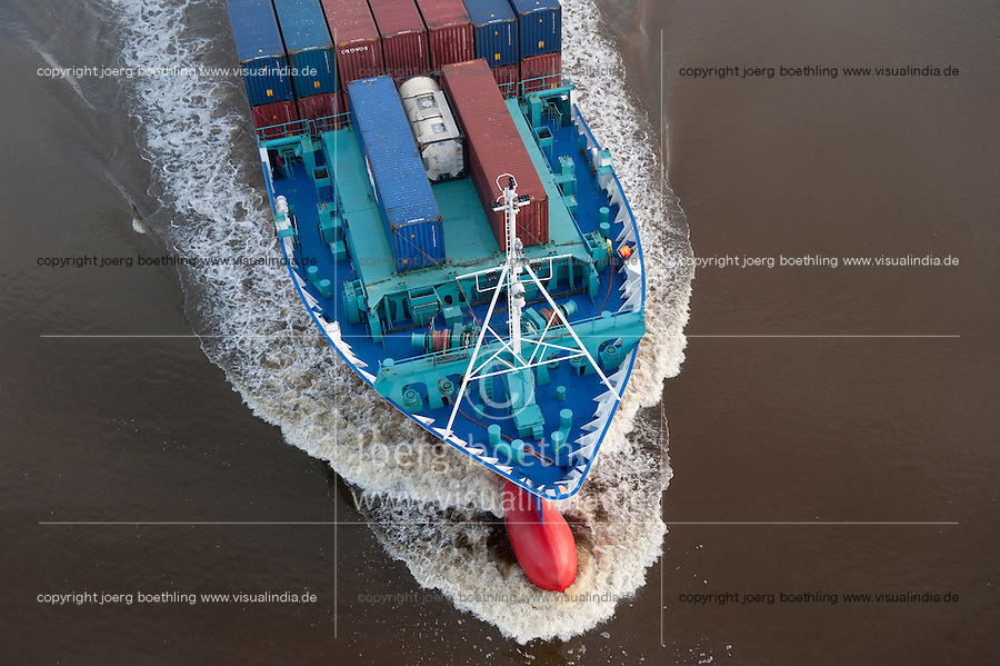 Deutschland Schleswig-Holstein, Feeder Containerschiff Lappland im Nord-Ostsee-Kanal / GERMANY , container feeder ship in North sea Baltic Sea Canal