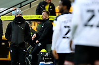 20th February 2021; Carrow Road, Norwich, Norfolk, England, English Football League Championship Football, Norwich versus Rotherham United; Rotherham United Manager Paul Warne looks at his players