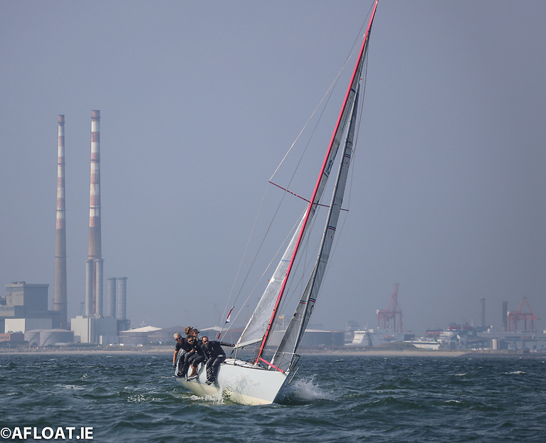 The Snoopy crew on their way to overall IRC 3 victory on Dublin Bay