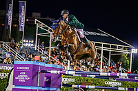 IRL-Denis Lynch rides Cristello during the Longines FEI Jumping Nations Cup™ Final - First Round. 2021 ESP-Longines FEI Jumping Nations Cup Final. Real Club de Polo, Barcelona. Spain. Friday 1 October 2021. Copyright Photo: Libby Law Photography