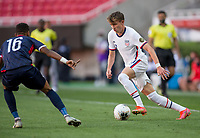 ZAPOPAN, MEXICO - MARCH 21: Sam Vines #13 of the United States turns and moves with the ball during a game between Dominican Republic and USMNT U-23 at Estadio Akron on March 21, 2021 in Zapopan, Mexico.