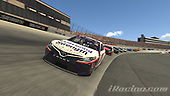 #11: Denny Hamlin, Joe Gibbs Racing, Toyota Camry, #95: Christopher Bell, Leavine Family Racing, Toyota Camry<br /> <br /> (MEDIA: EDITORIAL USE ONLY) (This image is from the iRacing computer game)