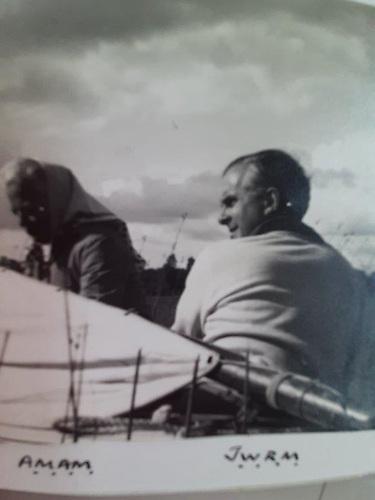 Major Madden, Johnny Madden's father sailing Valkyria courtesy Madden family