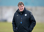 St Johnstone Training…06.04.18   McDiarmid Park, Perth<br />Manager Tommy Wright pictured during training this morning ahead of tomorrow's game against Motherwell<br />Picture by Graeme Hart.<br />Copyright Perthshire Picture Agency<br />Tel: 01738 623350  Mobile: 07990 594431