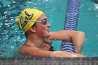 CORVALLIS, OR - October 7, 2016: Cal Bears Women's Swimming team vs. the Oregon State University Beavers at Osborn Aquatics Center. Final score, Cal Bears 163, Oregon State University Beavers 88.