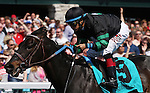 April 12, 2014: Occassional View and jockey Alan Garcia win the 28th running of The Commonwealth Grade 3 $175,000  for owner Robert Trussell and trainer Kenneth McPeek .  Candice Chavez/ESW/CSM