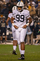 Penn State defensive lineman Yetur Gross-Matos. The Penn State Nittany Lions defeated the Pitt Panthers 51-6 on September 08, 2018 at Heinz Field in Pittsburgh, Pennsylvania.