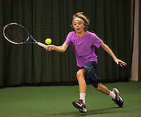 Rotterdam, The Netherlands, 07.03.2014. NOJK ,National Indoor Juniors Championships of 2014, Liam Liles(NED)<br /> Photo:Tennisimages/Henk Koster