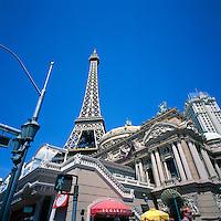 Las Vegas, Nevada, USA - Paris Las Vegas Hotel & Casino along The Strip (Las Vegas Boulevard) - Eiffel Tower Replica