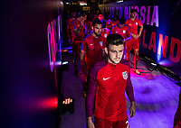 Orlando, FL - Friday Oct. 06, 2017: Paul Arriola during a 2018 FIFA World Cup Qualifier between the men's national teams of the United States (USA) and Panama (PAN) at Orlando City Stadium.