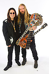 """Portrait session with Ozzy Osbourne & guitarist,  Zakk Wylde. The shoot was done to promote Osbourne's new CD, """"Black Rain,"""" which was released 5/22/07."""