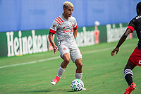 LAKE BUENA VISTA, FL - JULY 13: Erickson Gallardo #9 of Toronto FC dribbles the ball during a game between D.C. United and Toronto FC at Wide World of Sports on July 13, 2020 in Lake Buena Vista, Florida.