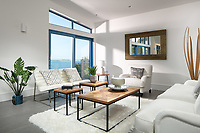 BNPS.co.uk (01202 558833)<br /> Pic: Rohrs&Rowe/BNPS<br /> <br /> Pictured: Living space. <br /> <br /> An exceptional contemporary clifftop home with panoramic views of not one, but two beaches is on the market for offers over £2m.<br /> <br /> Seascape is a brand new home, completed earlier this year and never lived in, that has a frontline spot next to Porthpean Beach and Duporth Beach.<br /> <br /> The sleek four-bedroom home in the village of Porthpean, Cornwall, has incredible sea views from almost every room, a full width balcony and a gate in the garden straight onto the South West Coast Path.