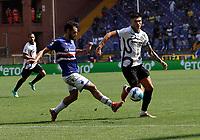 12th September 2021; G.Ferraris Stadium, Genoa, Italy; Serie A football, Sampdoria versus Inter Milan; Joaquin Correa of Inter skips past a tackle