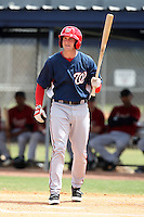 March 22, 2010:  First Baseman Brett Newsome of the Washington Nationals organization during Spring Training at the Carl Barger Training Complex in Melbourne, FL.  Photo By Mike Janes/Four Seam Images