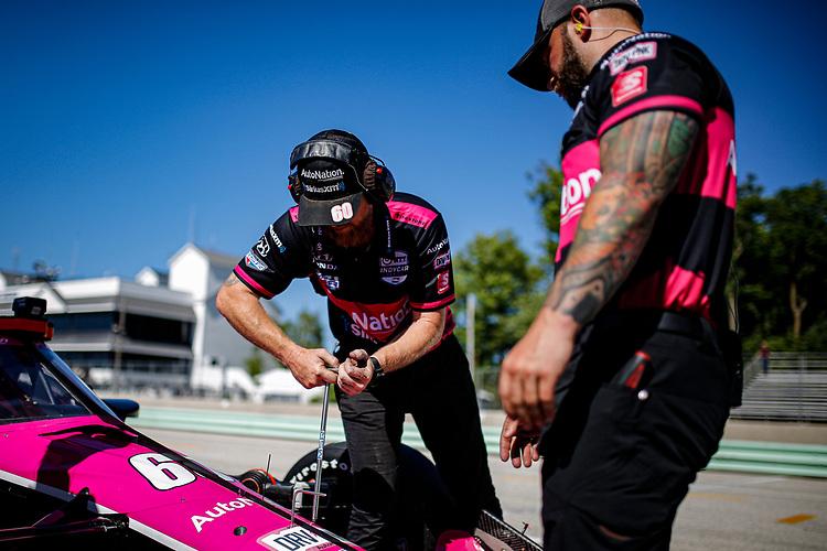 #60: Jack Harvey, Meyer Shank Racing Honda crew members