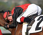 October 17, 2009.Jockey Tyler Baze after winning the Sen. Ken Maddy Handicap riding Gotta Have Her, Oak Tree, Santa Anita Park,  Arcadia, CA