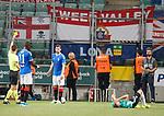 22.08.2019 Legia Warsaw v Rangers: Jon Flanagan booked