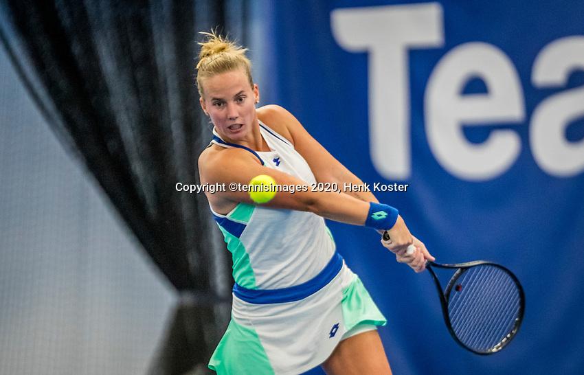 Amstelveen, Netherlands, 18  December, 2020, National Tennis Center, NTC, NK Indoor, National  Indoor Tennis Championships,   :  Richel Hogenkamp (NED) <br /> Photo: Henk Koster/tennisimages.com